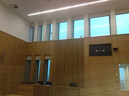 SHY shading to give privacy in a courtroom