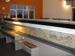 SHY ZIP roller blind used to protect WWII tapestry in Sevenoaks library