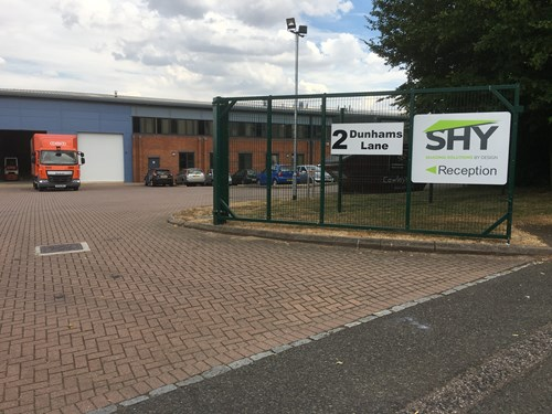 SHY Shading visitor entrance Dunhams Lane Letchworth